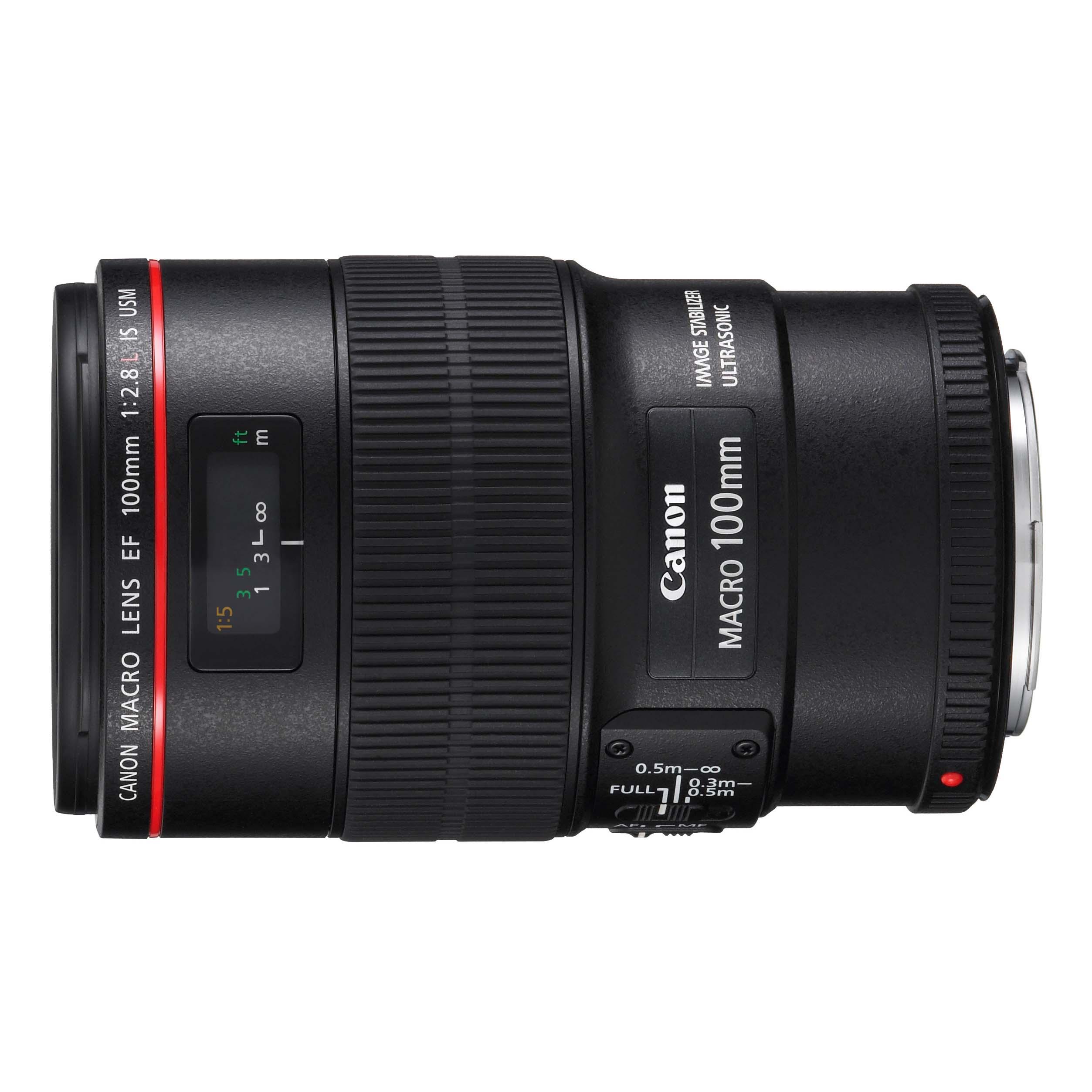 Immagine Obiettivo, EF 100 mm 2.8L, Macro IS USM,nero